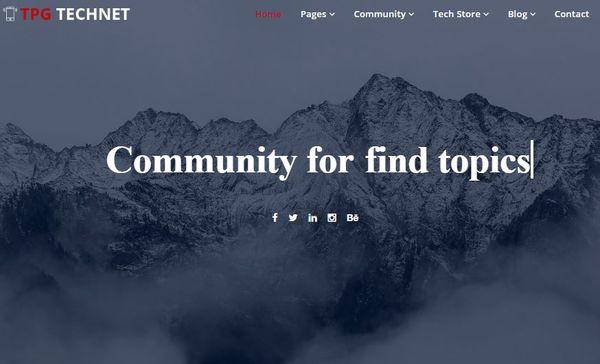 TGP Technet- Multicolour WordPress Theme
