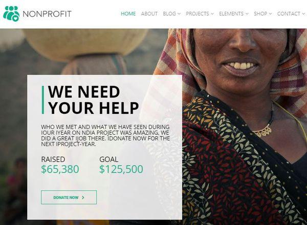 Nonprofit – Responsive WordPress Theme