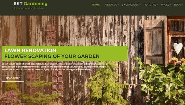 SKT Gardening – Widgetized WordPress Theme