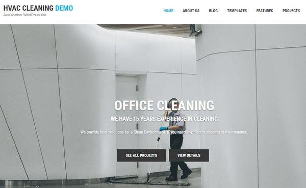 HVAC and Cleaning – Color picker Integrated WordPress Theme