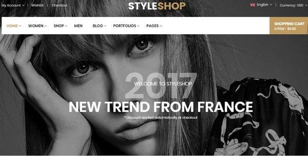 StyleShop - Mobile Specific Designed WordPress Theme