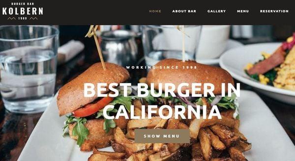 Kolbern Burger- High-speed WordPress Theme