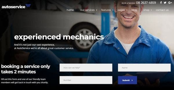 Autoservice - Premium Plugins Included WordPress Theme