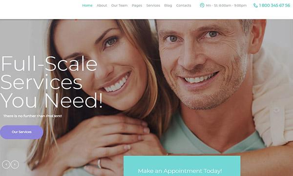 ProDent – Mobile Friendly WordPress Theme
