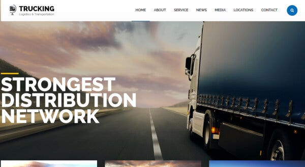Trucking – Content Maker Page Builder