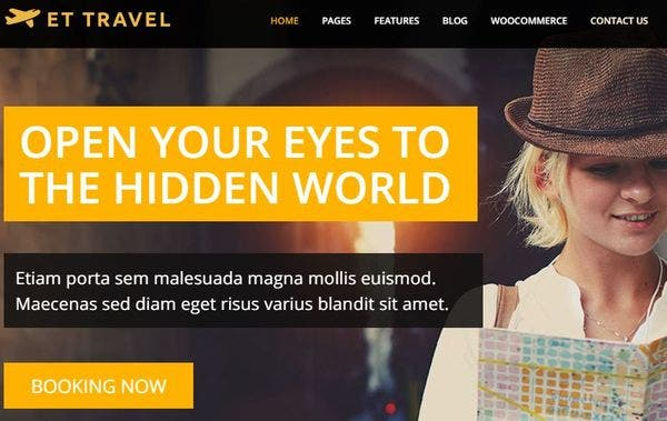 ET Travel- Crossbrowser enabled WordPress Theme