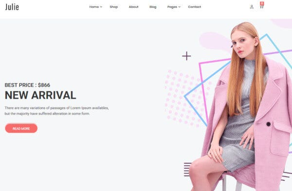 Julie – Translation Ready WordPress Theme