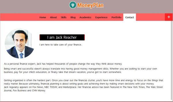 MoneyPlan – vCards Integrated WordPress Theme
