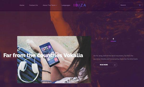 Ibiza- Shortcodes Ready WordPress Theme