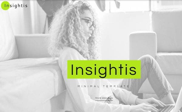Insights Creative Minimal Elementor WordPress Theme