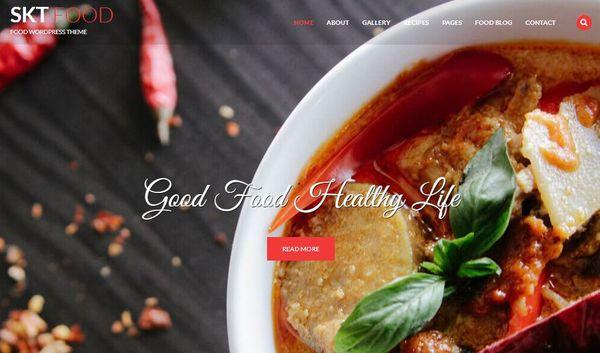 SKT Food -Translation ready WordPress Theme
