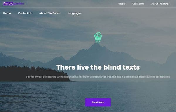 Purple Garden: High resolution WordPress Theme