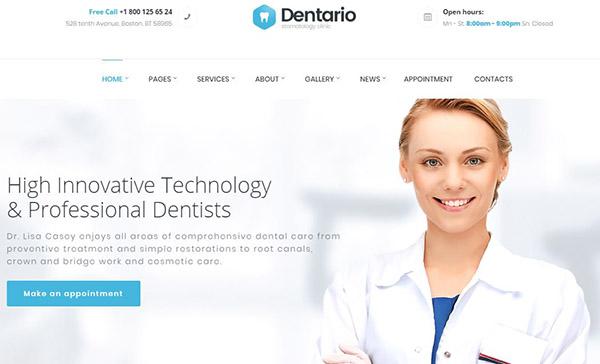 Dentario – Gutenberg Compatible WordPress Theme