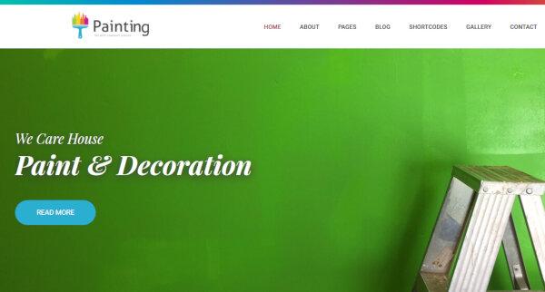 Painting- Multiple layout WordPress Theme