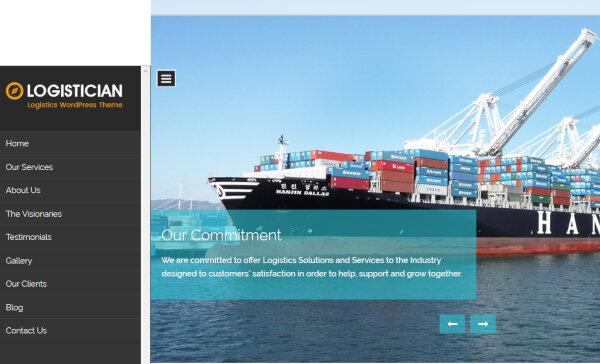 Logistician – Parallax Effect WordPress Theme