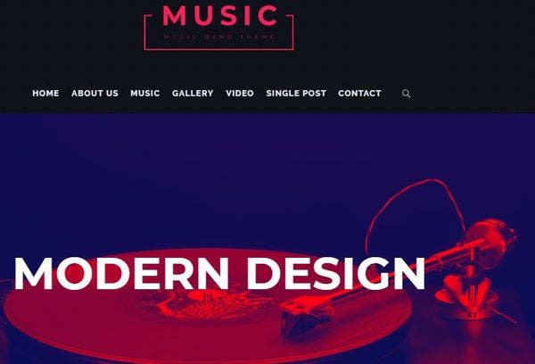 MusicBand – SEO Friendly WordPress Theme