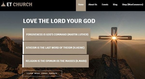ET Church – Genesis Framework WordPress Theme
