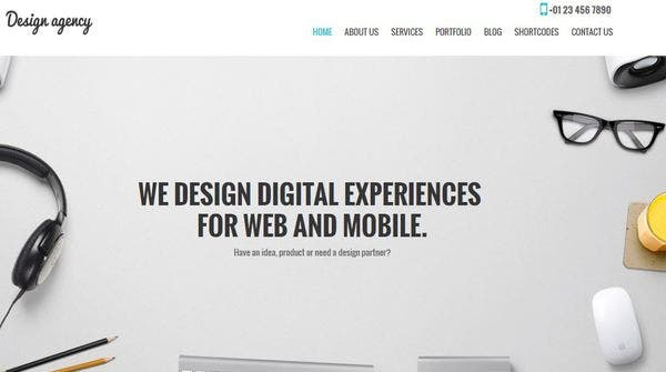 Design Agency Pro – Fast loading WordPress Theme