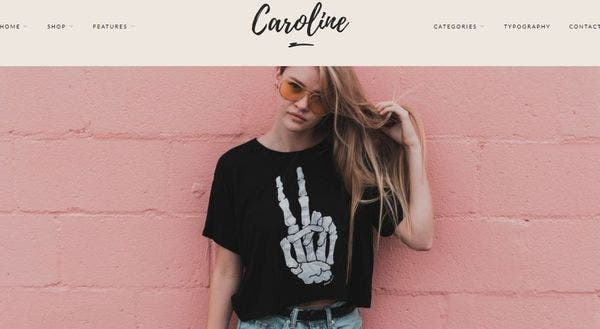 Caroline – Area Slider & Promo Boxes WordPress Theme
