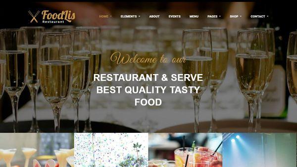 FoodLis – Revolution Slider Integrated WordPress Theme