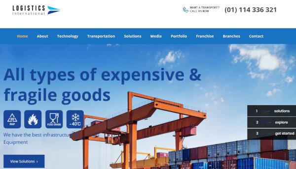 Trucking/Logistics WordPress Themes & Templates | Free