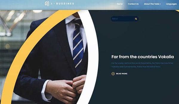 Abuisness – all-round SEO-optimized business coaching WordPress theme