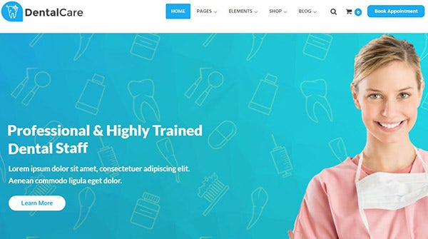 Dental Care – Bootstrap 3 Powered WordPress Theme
