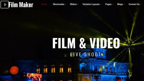 FilmMaker - Movie WordPress theme