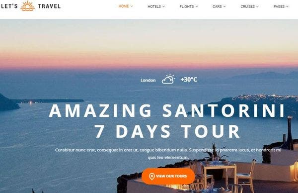 Let's Travel- Fully Translatable WordPress Theme