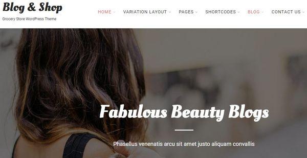Blog and Shop - Cache Plugin Compatible WordPress Theme