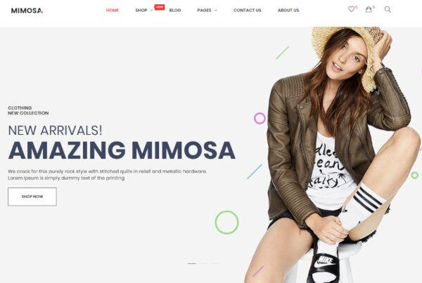 Mimosa – Category Search WordPress Theme