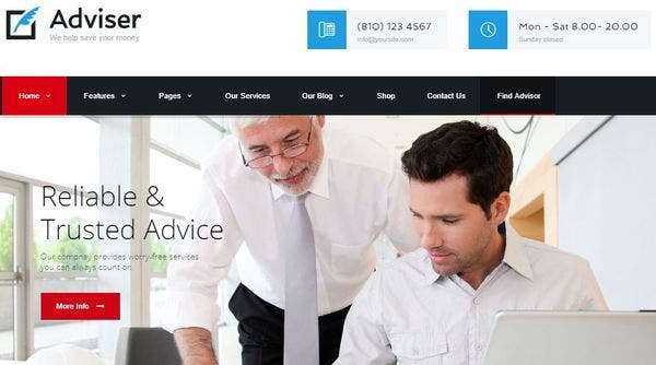 Adviser – Lease Calculator Integrated WordPress Theme