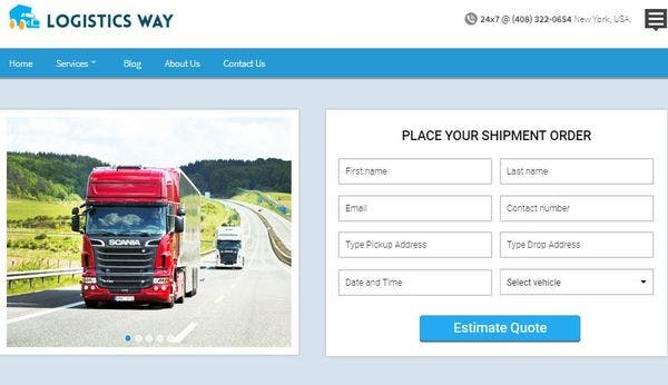 Logistics Way – Booking Form Compatible WP Theme