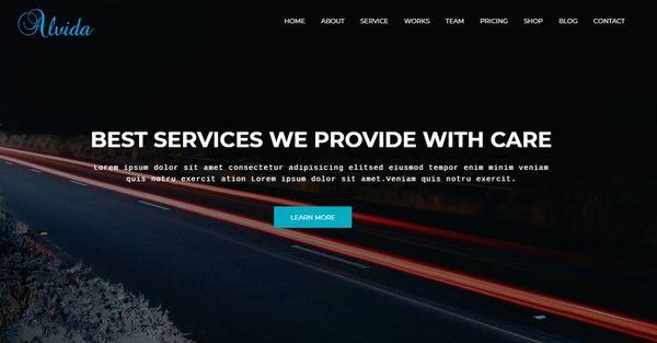 Alvida – Cross-browser Compatible WordPress Theme