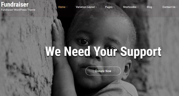 Fundraiser – Easy-to-build WordPress Theme
