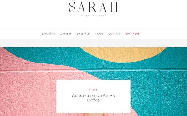 Sarah – Featured Posts Slider WordPress Theme