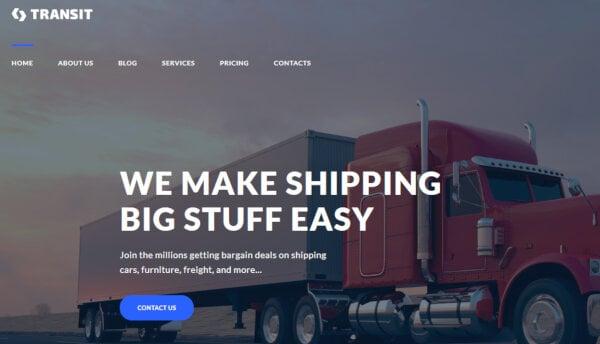Transit – Drag-and-Drop Page Builder WordPress Theme