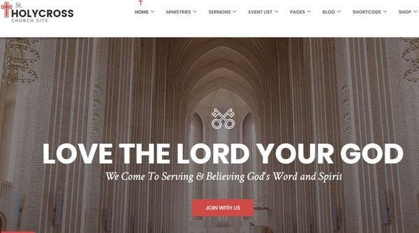 HolyCross Church – Drag-Drop Page Builder WordPress Theme