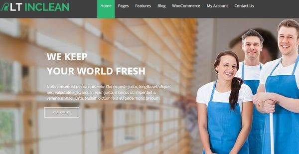 LT Inclean – Drag–Drop WordPress Theme