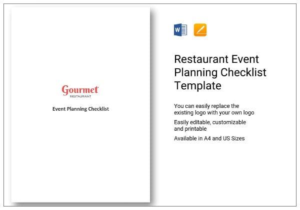245 restaurant event planning checklist 1