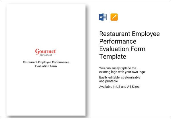 263 restaurant employee performance evaluation form 011