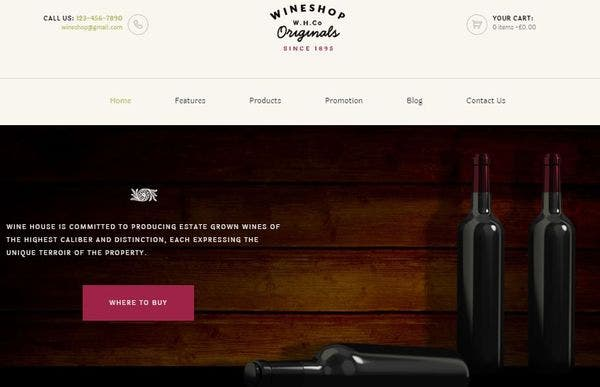 WineShop – WooCommerce Compatible WordPress Theme