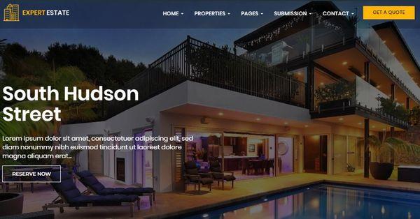 ExpertEstate - Font Awesome WordPress Theme