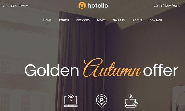 Hotello – Booking WordPress Theme