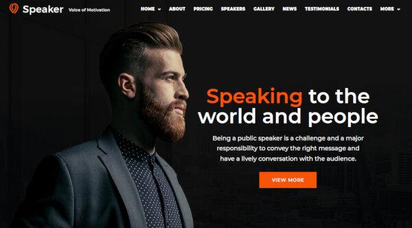 Speaker - Elementor Page Builder WordPress Theme