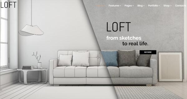 Loft- CSS3 validated WordPress Theme