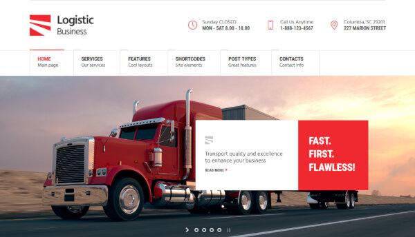 Logistic Business – GDPR-ready WordPress Theme