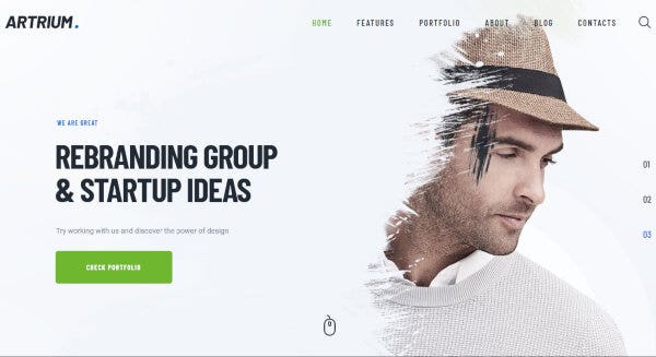 Artrium- Widget Ready WordPress Theme