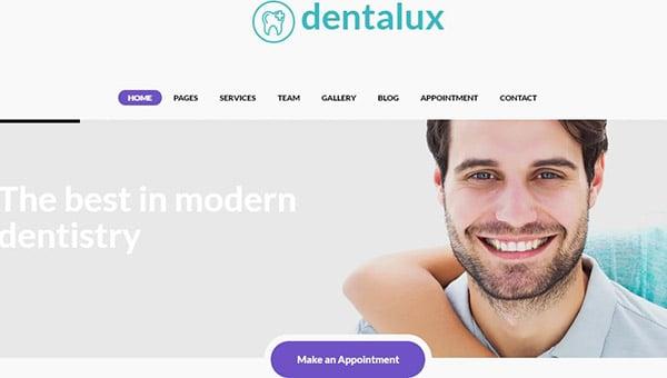 Dentalux – Retina Ready WordPress Theme