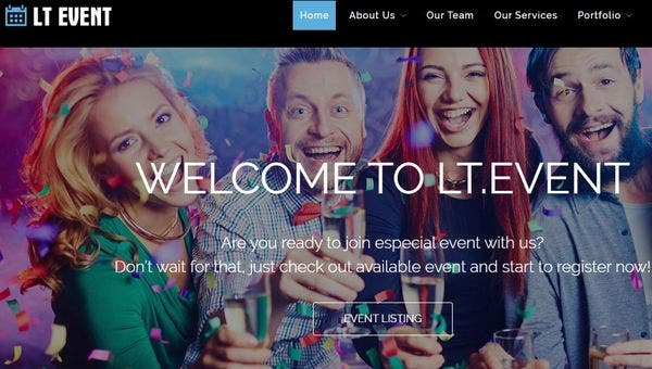 LT Event – LayersWP WordPress Theme